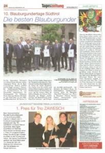 Südtiroler Tageszeitung 29/05/2008