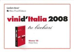 Gambero Rosso - Vini d'Italia 2008